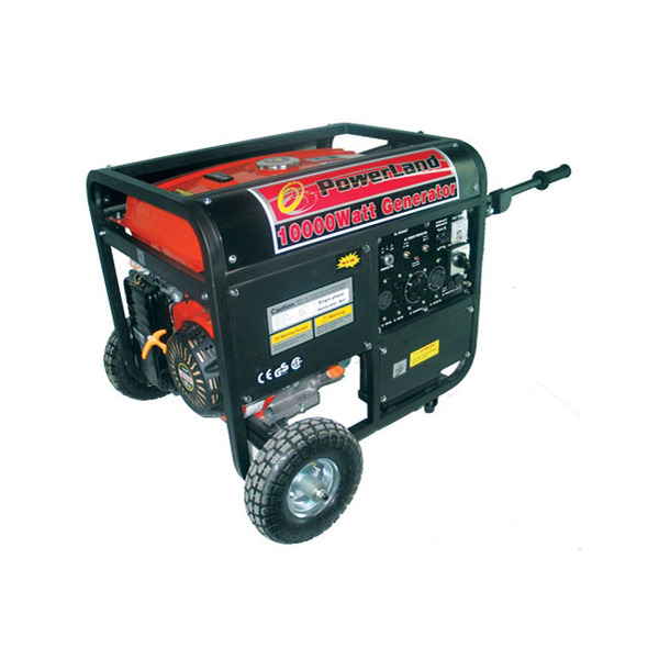 Powerland PD10000E Gas Generator, 10000W, 120/240V, 60Hz, 16hp, Electric Start, Idle Control, Up To 10hrs Runtime