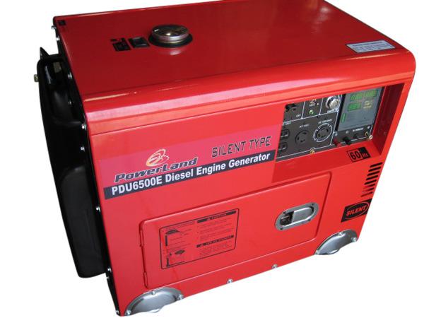 Powerland PDU6500E Diesel Generator, 6500W, 120/240V, 60Hz, Remote Control, Electric Start, Quiet 68dB