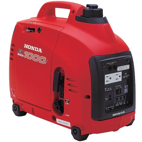 Honda EU1000i Inverter Generator, 1000W, 120V AC, 12V DC, 8.3A, 29lbs, Super Quiet 53-59 dB, Up To 8hr Runtime, 2Yr Warranty