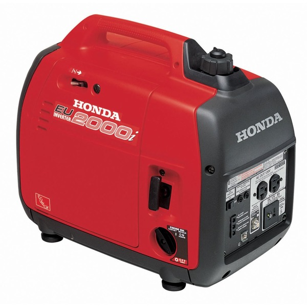 Honda EU2000i Inverter Generator, 2000W, 125V, 47lbs, Ultra-Quiet 53-59 dB, 4-9hr Runtime Per Tank, Parallel Capable, Stable Clean Power, 3Yr Warranty