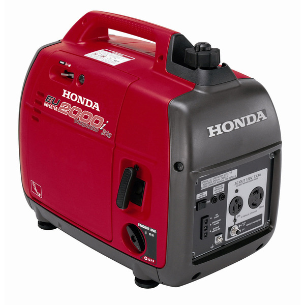Honda EU2000i Companion Inverter Generator, 2000W, 120V, 20/30A, 47lbs, Ultra-Quiet 53-59 dB, 3Yr Warranty, Perfect For Pairing With Another EU2000i