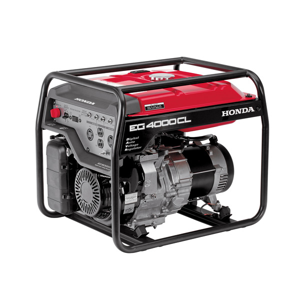 Honda EG4000CL Generator, 4000W, 120/240V, 155lbs, 6.3 Gal, 72dB, Up To 15.7hr Runtime, 3 Year Warranty