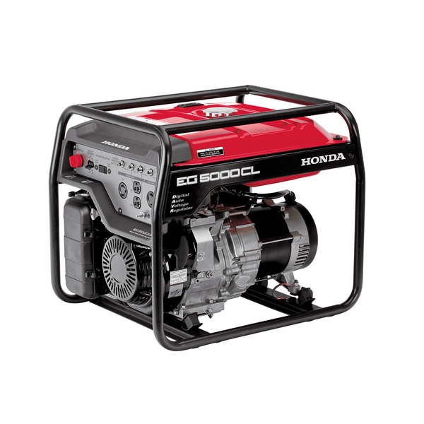 Honda EG5000CL Generator, 5000W, 120/240V, 177lbs, 6.3 Gal, 73dB, Up To 11hr Runtime, 3 Year Warranty