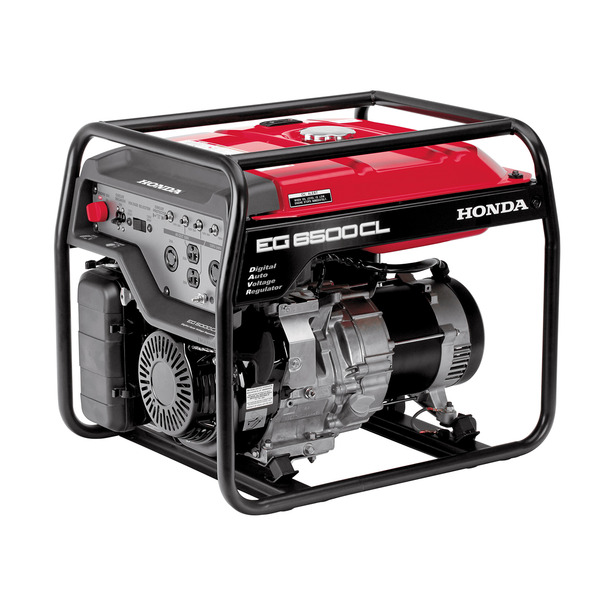 Honda EG6500CL Generator, 6500W, 120/240V, 182lbs, 6.3 Gal, 74dB, Up To 10hr Runtime, 3 Year Warranty