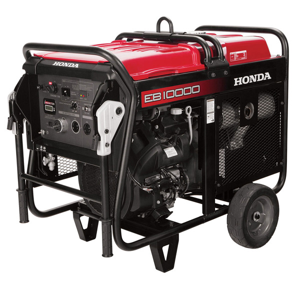 Honda EB10000AH Generator, 10000W, 120/240V, 71dB, Up To 7.2hr Runtime, Electric Start, GFCI Outlets, OSHA Compliant, Commercial Grade, 3yr Warranty