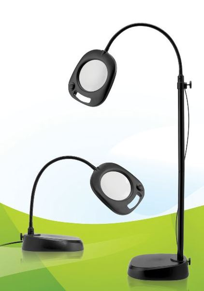 Lamps magnifier lighting allbrands tritoo for Naturalight led floor lamp with magnifier