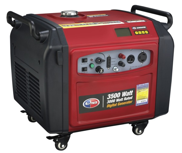 All Power APG3106 3500W Digital Inverter Generator, 6.5 HP, 196cc, EPA Approved, Electric Push Start