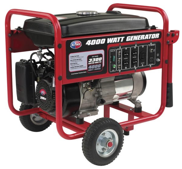 All Power APGG4000 4000W Generator, 7 HP, 208cc, Includes Wheel Kit