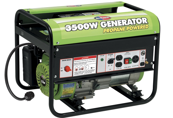 All Power APG3535CN 3500W Propane Powered Generator, 6.5HP, 196cc, w/Mobility Kit