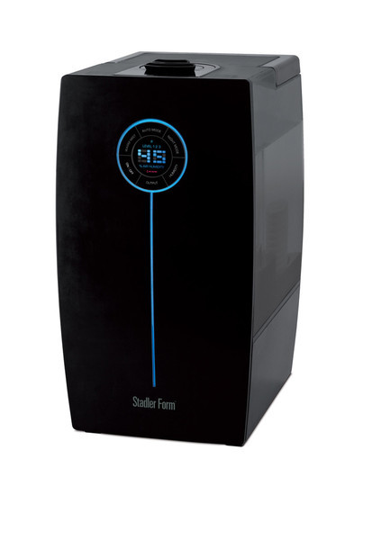 Stadler Form HERA Ultrasonic Humidifier Two Gallon Modern Black Warm and Cool Mist Hygrostat Bidirectional Nozzle 750 Sq Feet Designer Matti Walker