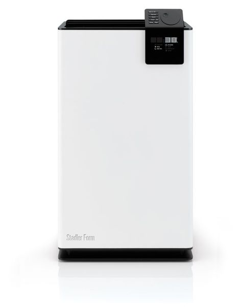 Stadler Form ALBERT Large Room Dehumidifier, on Wheels, White Modern, 650 sq ft, Quiet, Programable, Auto Shut Off, 3 Speeds, Designer Matti Walker