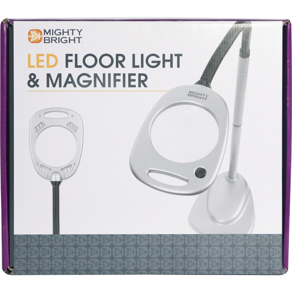 mighty bright mb67112 magnifier floor standing lamp light 12 led bulbs. Black Bedroom Furniture Sets. Home Design Ideas