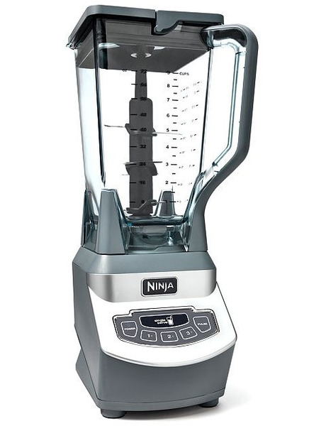 Euro-Pro Ninja BL660 Professional Blender 72 Oz 1000W, +2 Single Serve 16 Oz Cups are BPA Free Pitcher, 6 Blades, 2 Lids are Dishwasher Safe, 3 Speeds