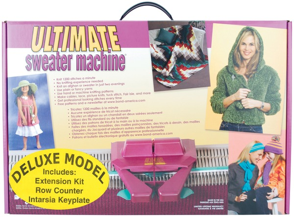 Bond 10102N Deluxe 8mm Bulky Gauge Ultimate Sweater Knitting Machine 4Extras*