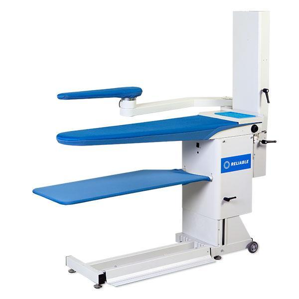 Reliable 7200VB Commercial Vacuum & Up-Air Heated Ironing Board Pressing Table, Adj Height, Cover Pad, Hot Iron Rest (Replaces 724HAB)nohtin Sale $5199.00 SKU: 7200VB :