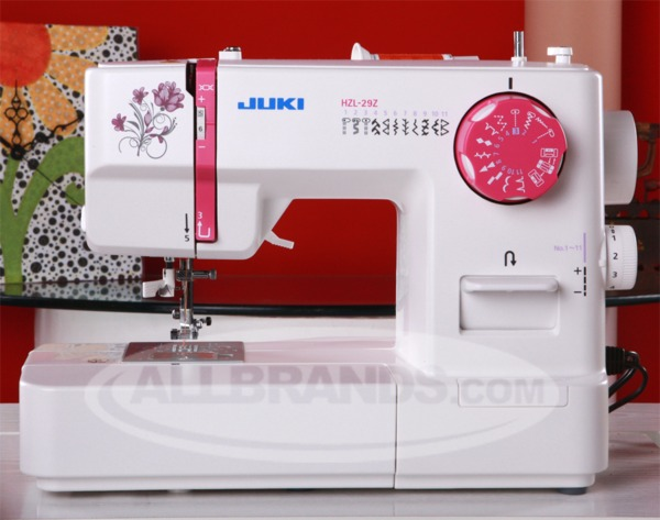 Juki HZL-29Z 22-Stitch Mechanical Freearm Sewing Machine, Buttonhole, Threader, Drop in Bobbin, 7Pc Feed Dog, LED Light, Left Center Needle, Positionsnohtin