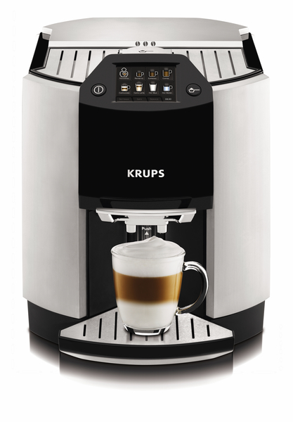 Krups EA9000 Black Stainless Barista 1-Touch Fully Automatic Cappuccino Espresso Coffee Maker, 25 Pounds, Ristretto, Caffe Latte, Hot Milk, Hot Waternohtin