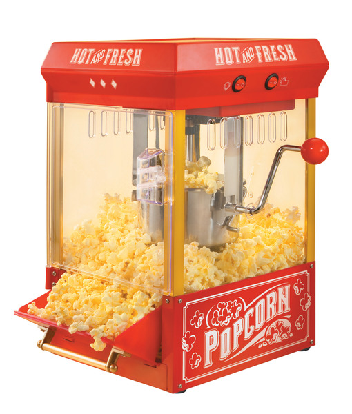 Nostalgia Electrics KPM200 Kettle Stirring Popcorn Popper, 10-30 Cups*nohtin