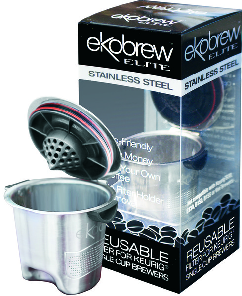 Ekobrew 40135 Elite Reusable Filter Keurig Coffee Pod Brewersnohtin
