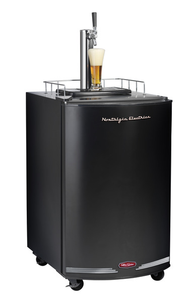 "Nostalgia Electricsâ""¢ KRS2100RETROBLK Retro Series Kegorator Beer Keg Fridge, Black"