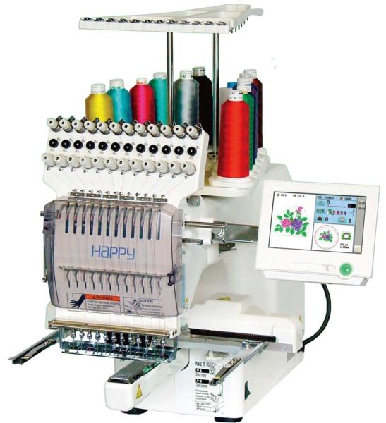 12 needle happy embroidery machine