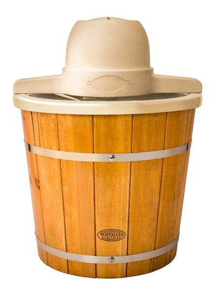 Nostalgia Electrics ICMP400WD 4-Quart Plastic Bucket with Wood Slats Electric Ice Cream Makernohtin