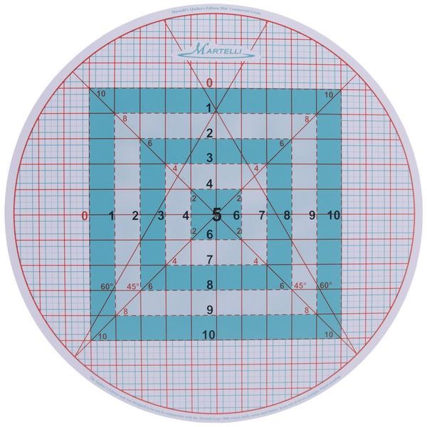 Martelli Tm17r 16 Quot Round Cutting Mat 1 4 Quot Gridded 6 45 186