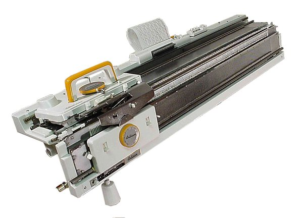 Artisan JBL-245 STD 4.4mm Gauge Double Metal Bed Punchcard Knitting Machine and Ribbernohtin
