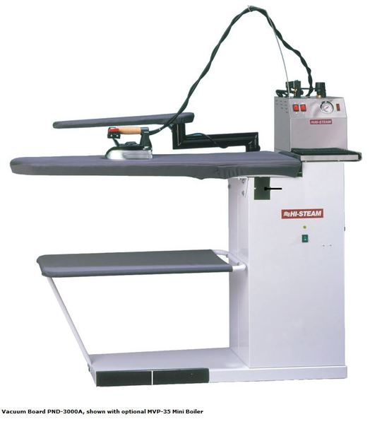 Hi Steam Commercial PND-3000AB Heated Vacuum Ironing and Blowing Board, Sleeve Bucksnohtin Sale $2586.00 SKU: PND-3000AB :