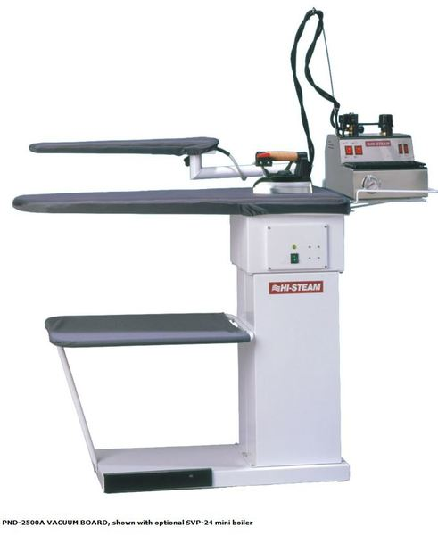 "Hi Steam PND-2500A Heated Vacuum Ironing Board Table 53x16.5"" +Sleeve Arm, Hot Iron Rest, Traynohtin"