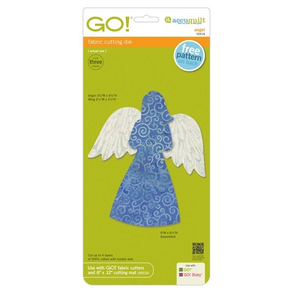 AccuQuilt GO! Angel Fabric Cutting Die for Go or Go Baby