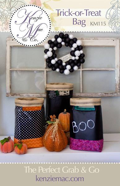 Kenzie Mac & Co Trick or Treat Bag Halloween Patternnohtin