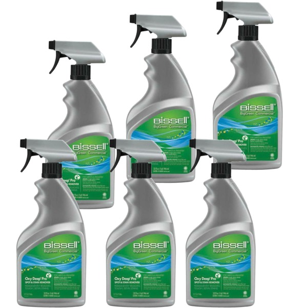Bissell BigGreen 97W7-C Oxy Deep Pro Spot Carpet & Upholstery Stain Remover 6 Pknohtin