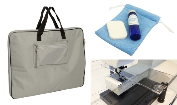 Sew Steady SSAP-WISH Accessory Package: Bag, Polish Kit, Sew Straight Guidenohtin