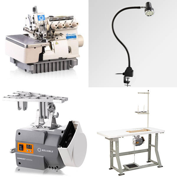 Reliable MSK-3314N-CF7-40H 2Needle 3-4Thread Serger Fully Submerged Table Stand and DC Servo Motor, Uber Lightnohtin