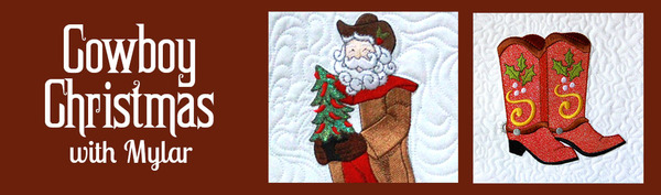 Purely Gates PG5448 Cowboy Christmas Mylar Embroidery Designs CDnohtin