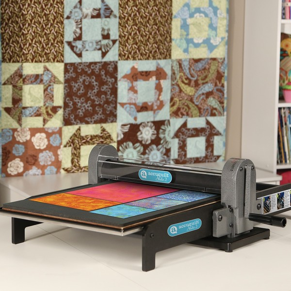 "Accuquilt 50450 Studio 2 Fabric Strip & Die Cutter, Foldable Carry Handle, Cuts 10 Layers, Use All 350 Dies* up to 15"" Width, 3Yr Wnty, 32Lbs, 6Mo 0%*nohtin"