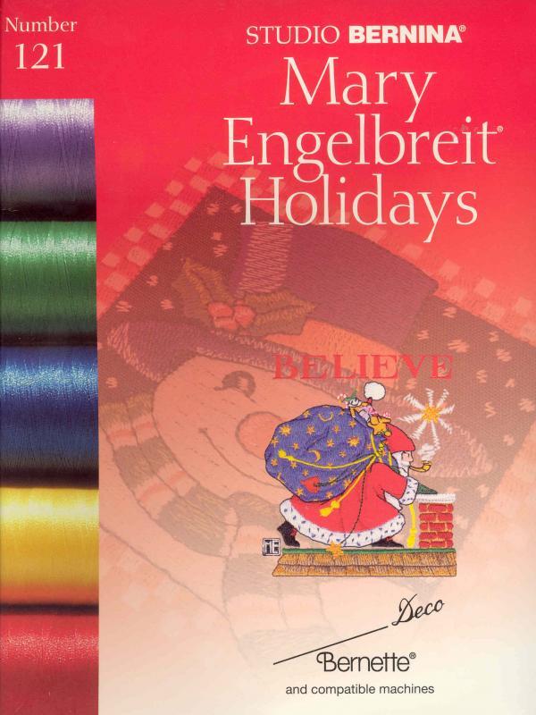 Bernina Deco 121 Mary Englebreit Holidays Embroidery Cardnohtin