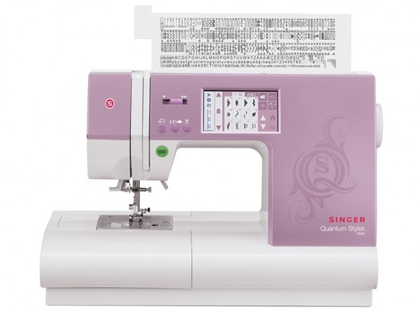 Singer 9985 Quantum Stylist Touch 960 Stitch Computer Electronic Sewing Machine, 5 Styles 1-Step Buttonholes, 6 Fonts, 13 Feet, Drop Feed Free Motionnohtin