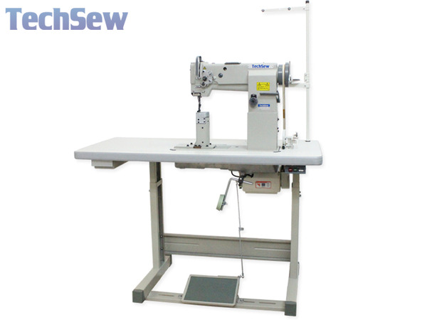 "TechSew 860-2 3/8""Double Needle 7""H Post Bed Walking Foot Industrial Sewing Machine, Servo Motor Stand, Needle Positioner, Lamp, 5/8"" Foot Lift, 7mmSLnohtin"