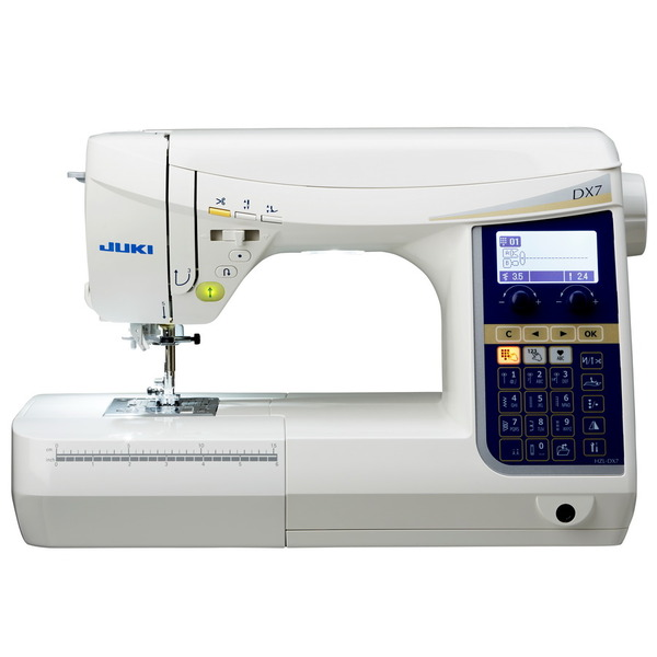 Juki HZL-DX7 287 Stitch Computer Sewing Machine, 4 Fonts, 16 Buttonholes, Auto Threader/Trimmer, Start Stop, Needle Up Down, Drop Feed, Case, 9 Feetnohtin Sale $1399.00 SKU: HZL-DX7 :