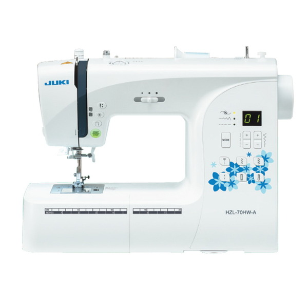 Juki HZL-70HW 80 Stitch Computer Sewing Machine, 1-Step Buttonhole, Threader, Start/Stop, Needle Up/Down, Drop Feed, Fabric Pressure, Hard Case, 13Lbsnohtin