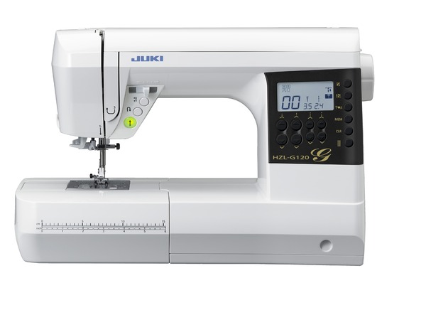 "Juki HZLG120 180 Stitch Sewing Quilting Machine LED, 8""Arm, Font, 8x1-Step BH´s, Start/Stop, Neele Up/Down, Auto Threader, Box/Drop Feed, 6 Feet, 6Mo*nohtin"