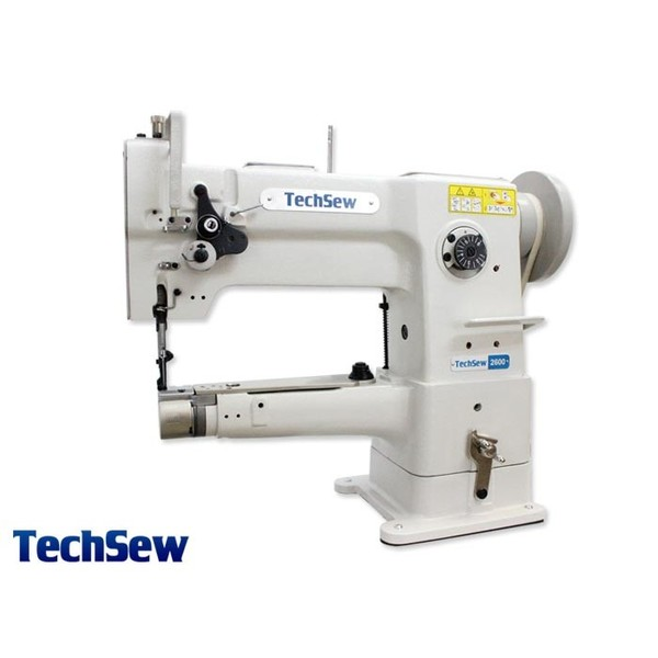 "TechSew 2600 Narrow 10"" Cylinder Walking Foot Needle Feed Leather Stitcher Machine, Stand, 1/2"" Lift, Large Bobbin,nohtin"