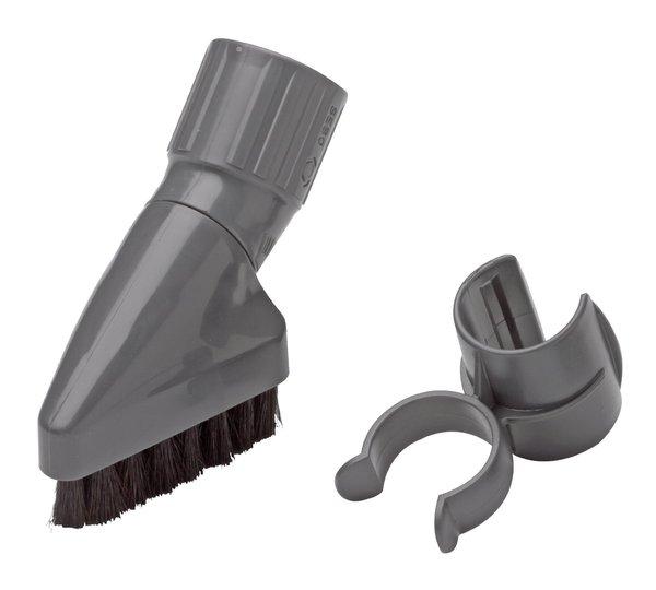 Sebo 6728ER Attachment Dusting Brush Set, horsehair bristles for K, w/attachment clipnohtin