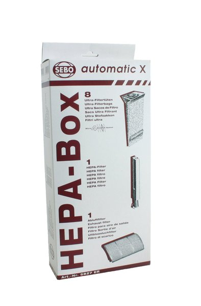 Sebo Bags 5827ER in HEPA Service Box for X Series Upright Vacuumsnohtin