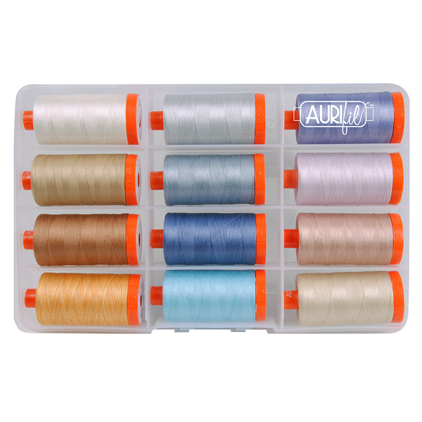 Aurifil Beach Collection by Sheena Norquaynohtin