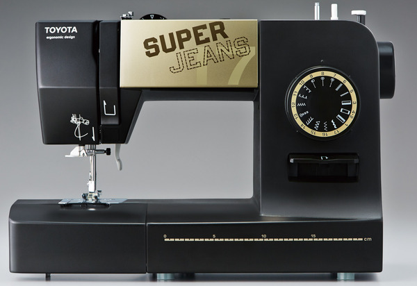 Toyota Super Jeans SJ17 17-Stitch One Dial Freearm Mechanical Sewing Machine with Buttonhole and Patented Glider Foot for Seamsnohtin