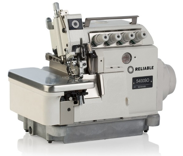 Reliable 5400SO 3/4 Thread Overlock Serger, Auto Oil, Built In Direct Drive Motor 6500SPM, Digital Control Panel, Semi Submerged Table and Standnohtin
