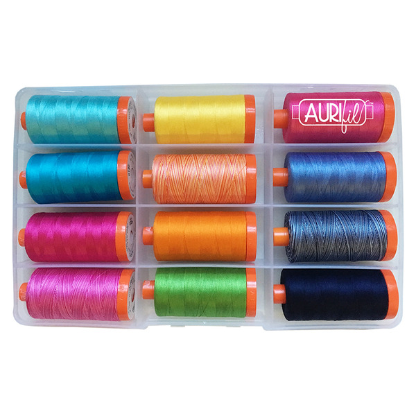 Aurifil Fifi & Fido Thread Collection by Kathy Englenohtin